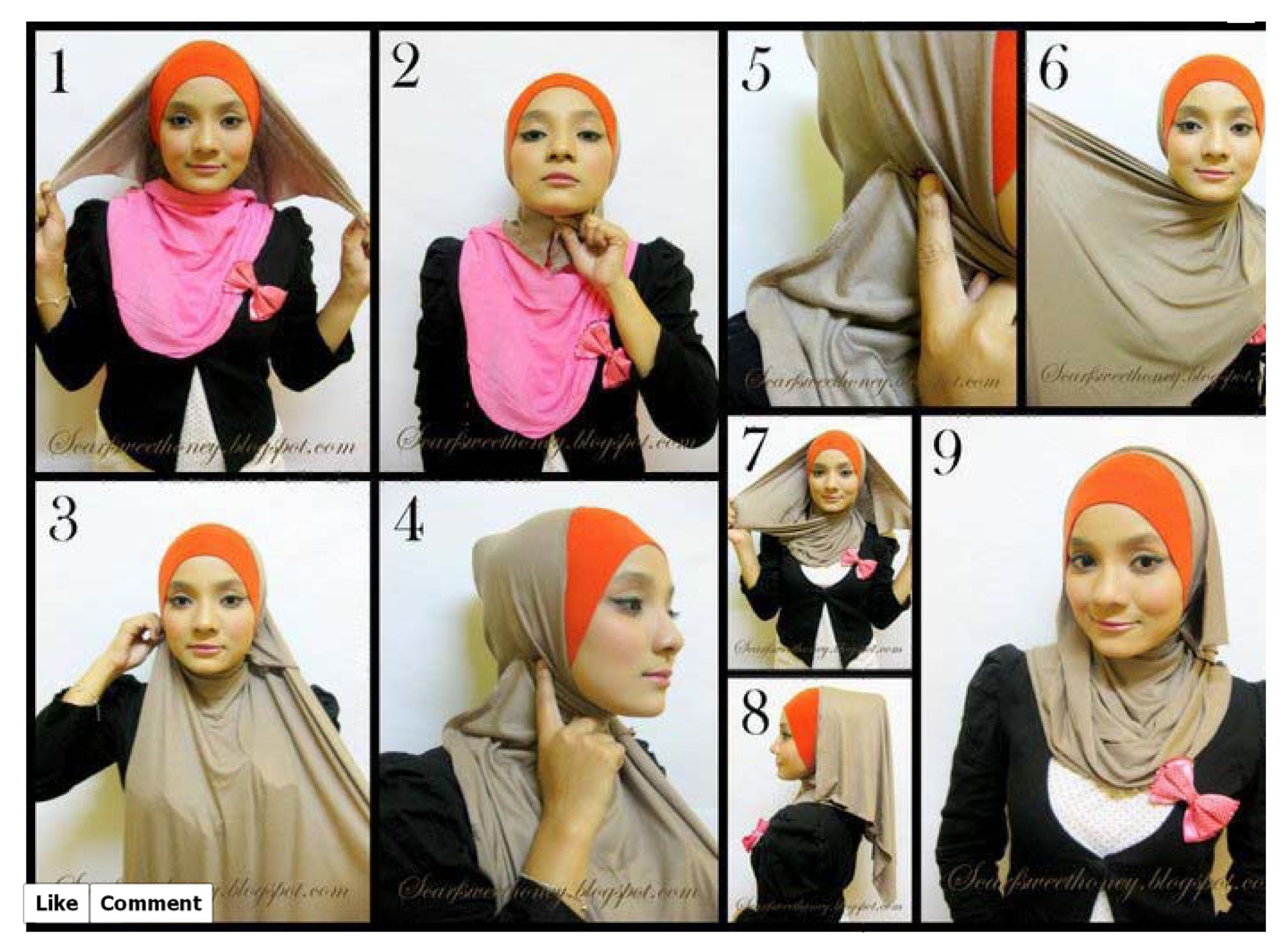 Tutorial Hijab Fashion Beautiful Pink Loose Hijab Tutorial Hijab