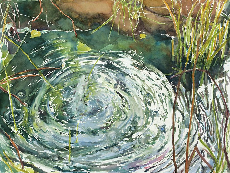 Image Result For Water Ripples Pond Pond Painting Water Painting