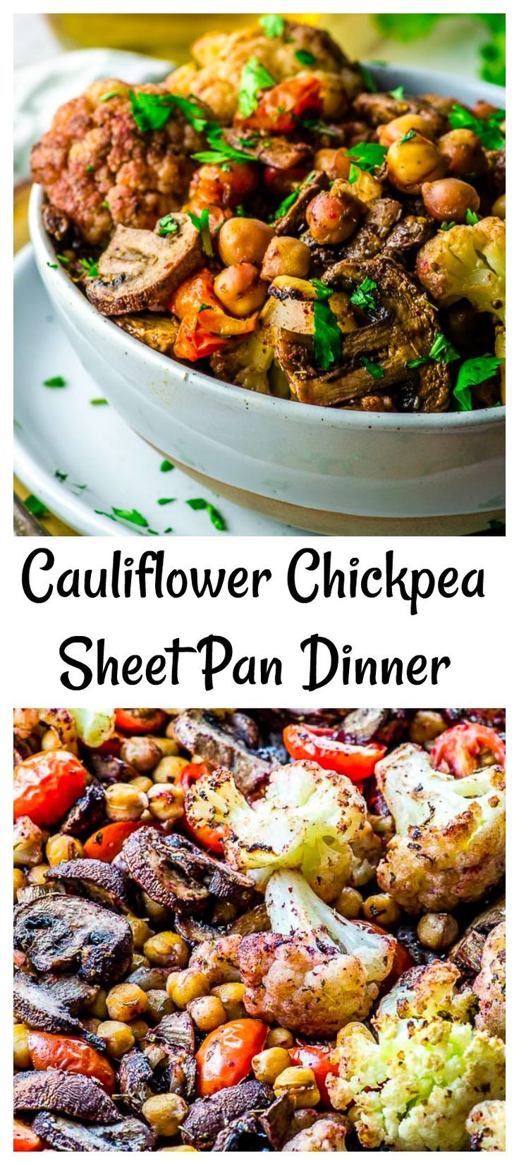 Cauliflower Chickpea Sheet Pan Dinner