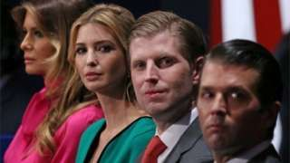 Image copyright                  Getty Images                                                     Some of Donald Trump's relatives have played key roles in his victorious campaign and are now part of his team preparing for office. Will they be in his government and is that legal?  The president-elect's transition team has denied reports that he sought