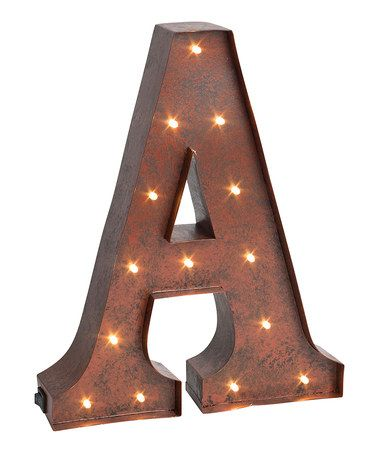 Rustic Metal Lighted Letter