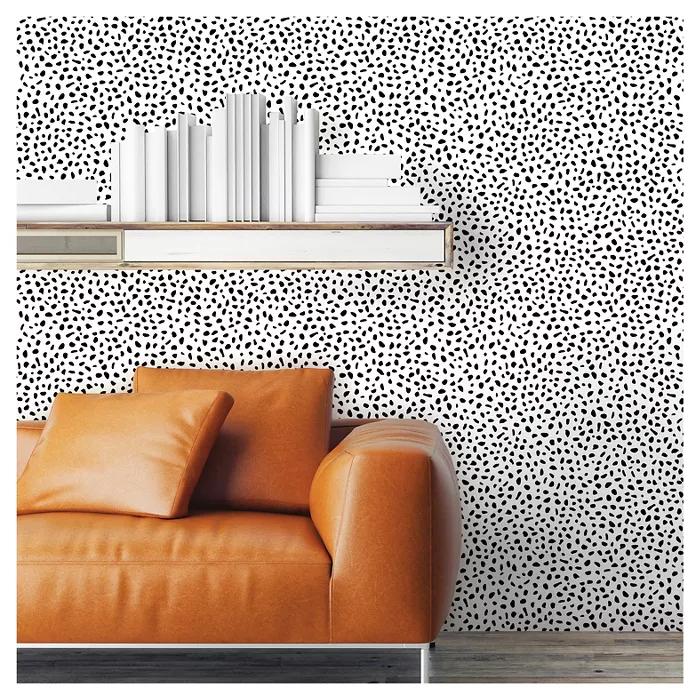 Speckled Dot Peel Stick Wallpaper Black Opalhouse In 2020 Peel And Stick Wallpaper Target Wallpaper Dots Wallpaper