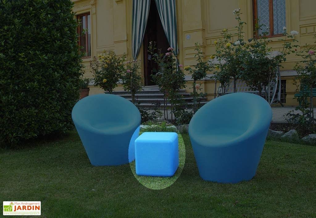 Cube de Jardin Lumineux Fluo Polyéthylène (plusieurs couleurs ...