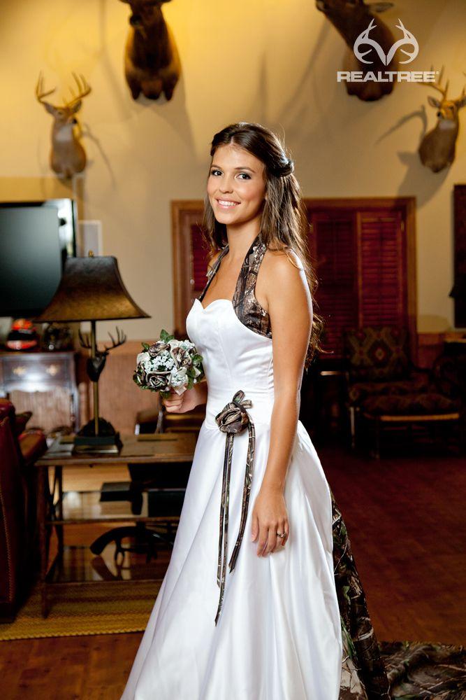 Realtree Camo Halter Wedding Gown - Pretty in Camo | Camo Weddings ...