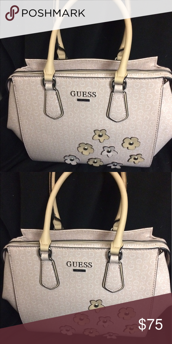 Guess Purse Light Pink Guess Bag With Floral Detail Guess Bags Totes Guess Purses Guess Bags Purses