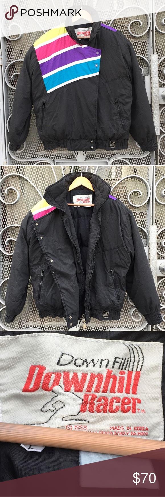 Vintage s s rainbow ski down puffer jacket puffer jackets
