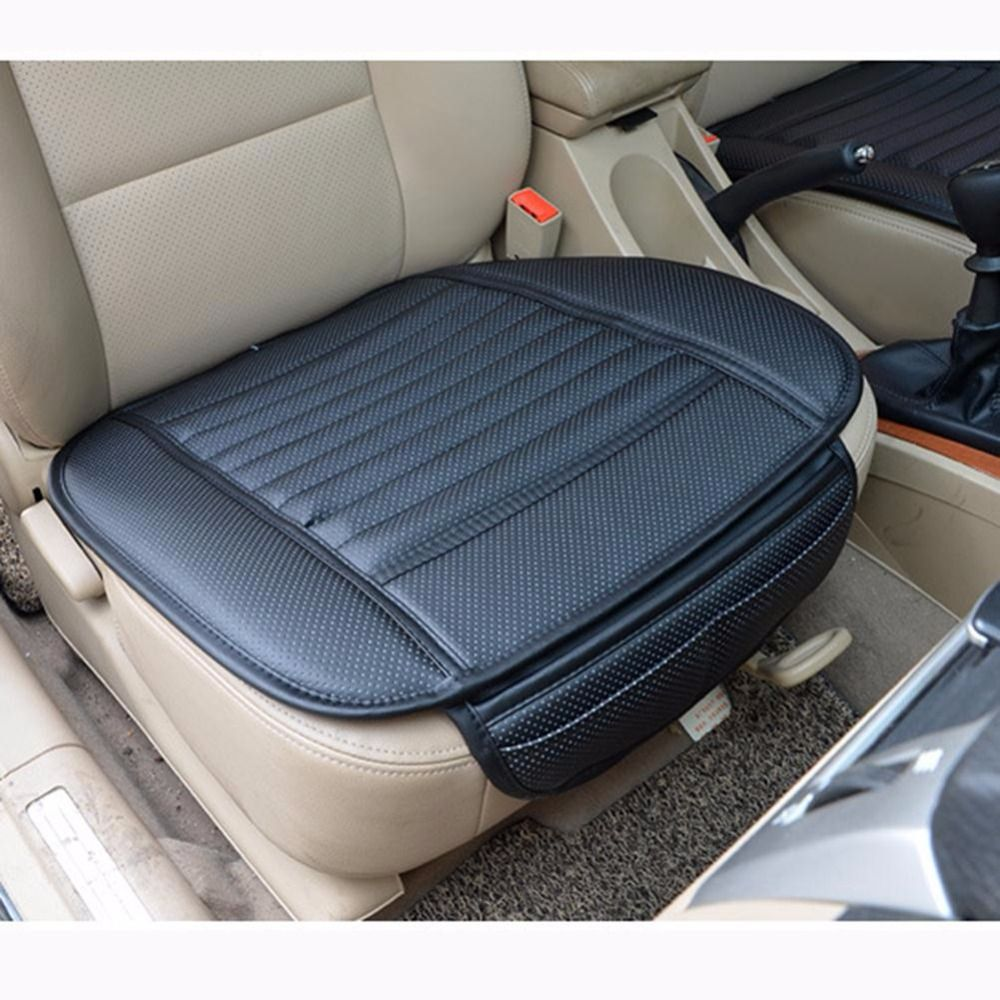 Car Bamboo Charcoal Leather Seat Cushion Four Seasons Breathable