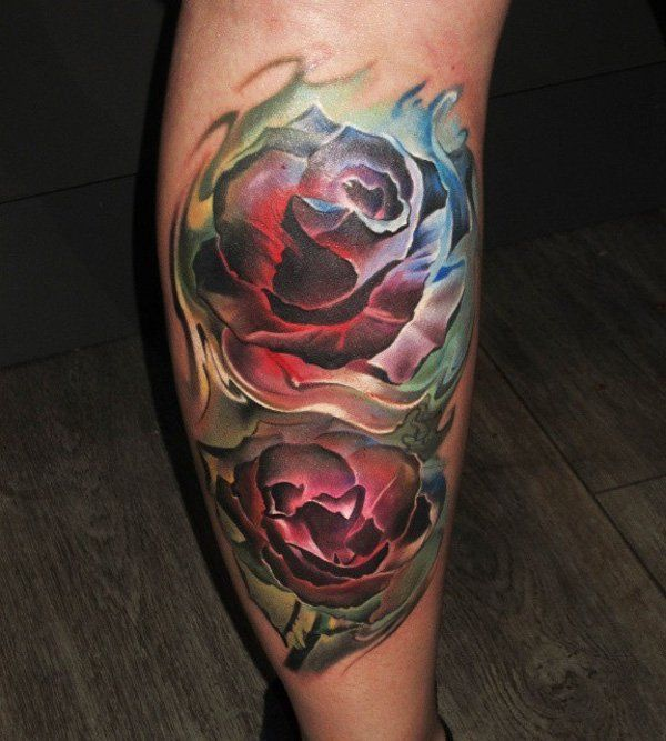 50+ Amazing Calf Tattoos | Tattoo Ideas ♡ | Tattoos, Rose ...