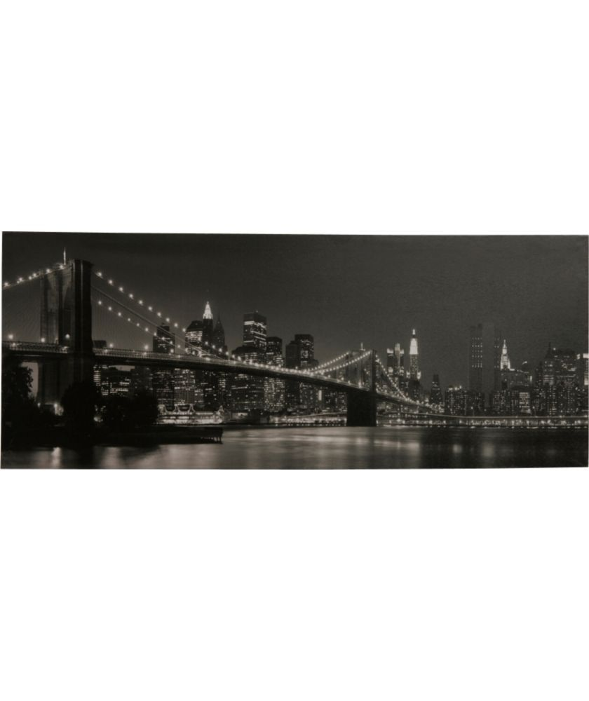 Buy Heart of House Brooklyn Bridge at Night Canvas at Argos.co.uk - Your Online Shop for Pictures and wall art.
