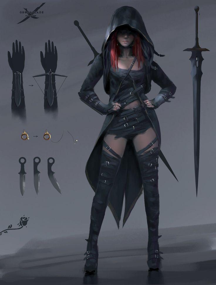 Dark Assassin In 2020 Burning Rose Warrior Woman Character Inspiration