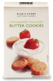 Strawberry Yoghurt Butter Cookies