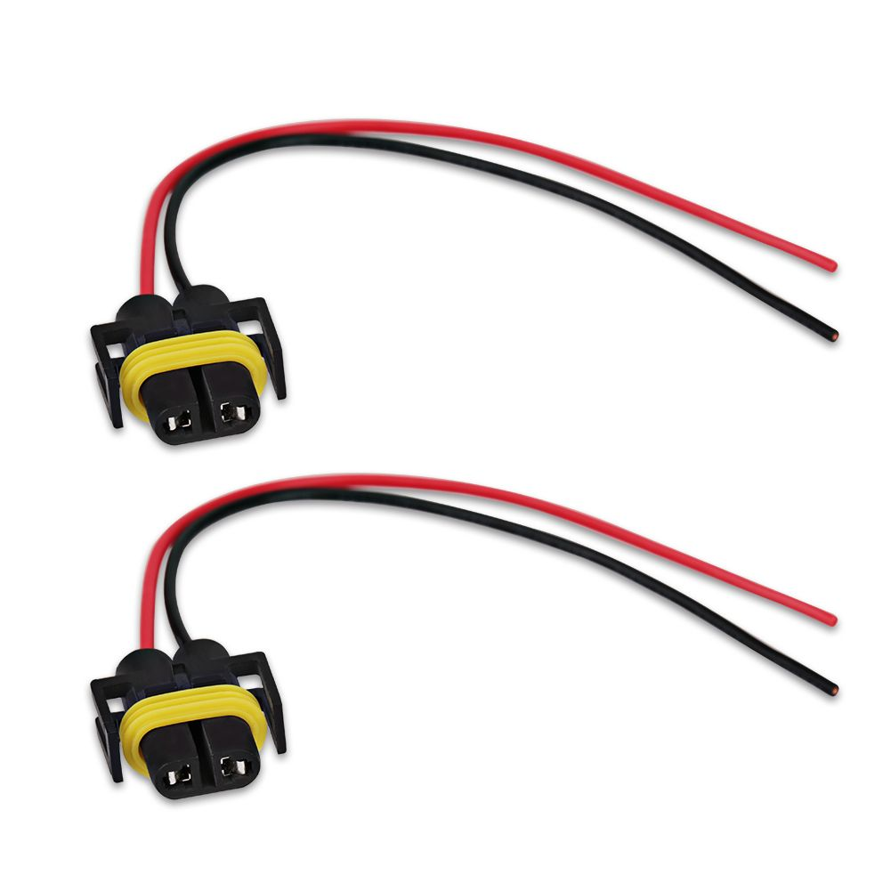 2pcs 9005 Hb3 9006 Hb4 H10 Universal Female Adapter Wiring Harness Sockets Wire Cable For Headlight Fog Electronic Accessories Car Electronics Led Light Bulb