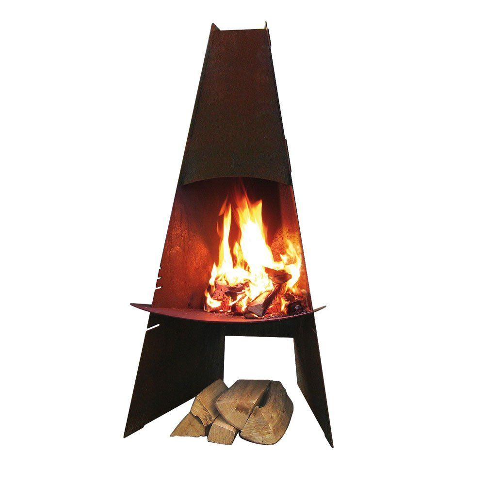 aduro danish cortensteel outdoor wood burning fireplace wood