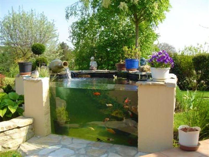 bassin poisson carpes koi jardin 29 besancon id es pour la maison pinterest. Black Bedroom Furniture Sets. Home Design Ideas
