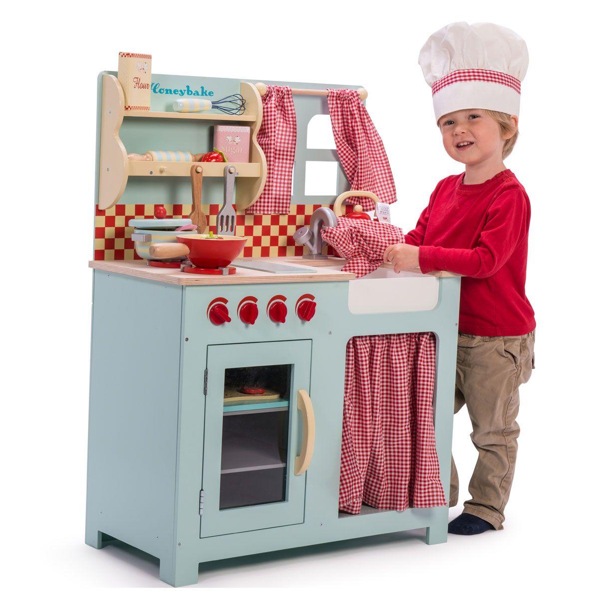 Le Toy Van Große Küche Die Küche ganz in Hellblau hat eine Spüle ...