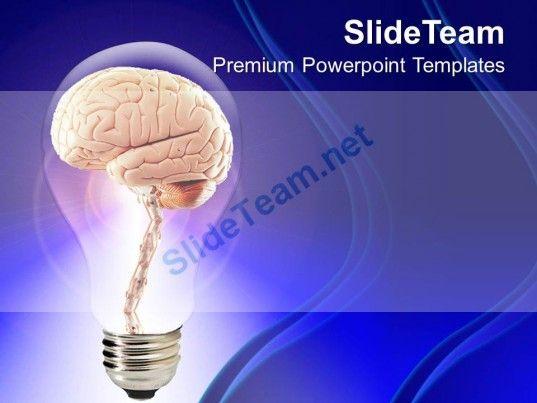Brain Inside Bulb Creative Powerpoint Templates Ppt Themes