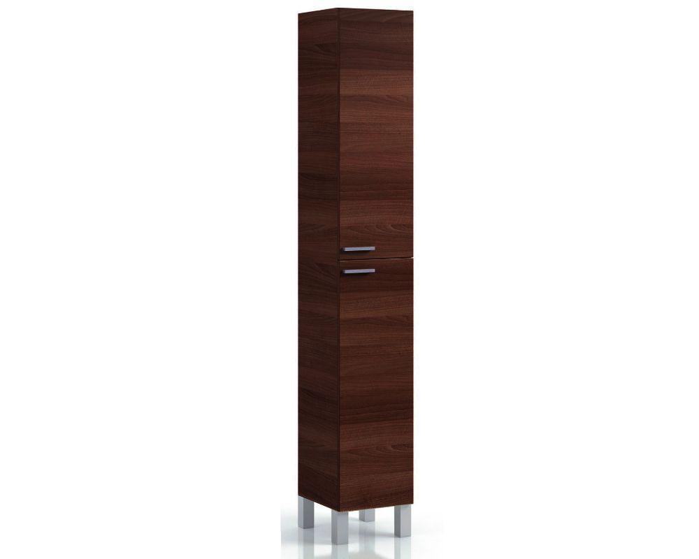 Tall Narrow Melamine Bathroom Dark Brown Wenge Effect Cupboard Furniture Cabinet Cabinet Furniture Cozy Bathroom Cabinet