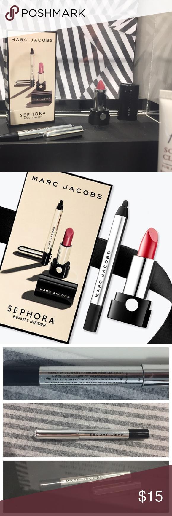 Marc Jacobs NIB Lipstick Amp Eyeliner Travel Size Sephora Birthday Gift Brand New
