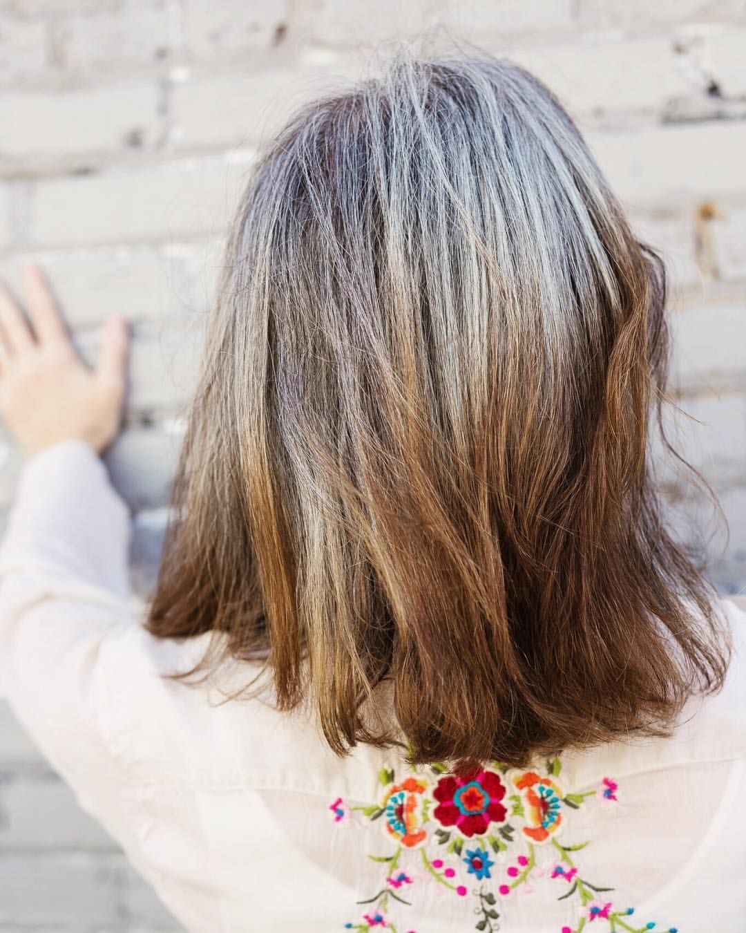 14 Likes 2 Comments Katie Gray Hair Blogger Katiegoesplatinum On Instagram The Back Of My Calico Head 1 Hair Blogger Hair Dark Hair With Highlights