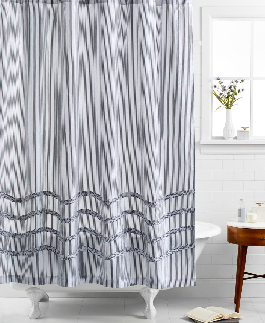 Martha Stewart Collection Ruffle Shower Curtain