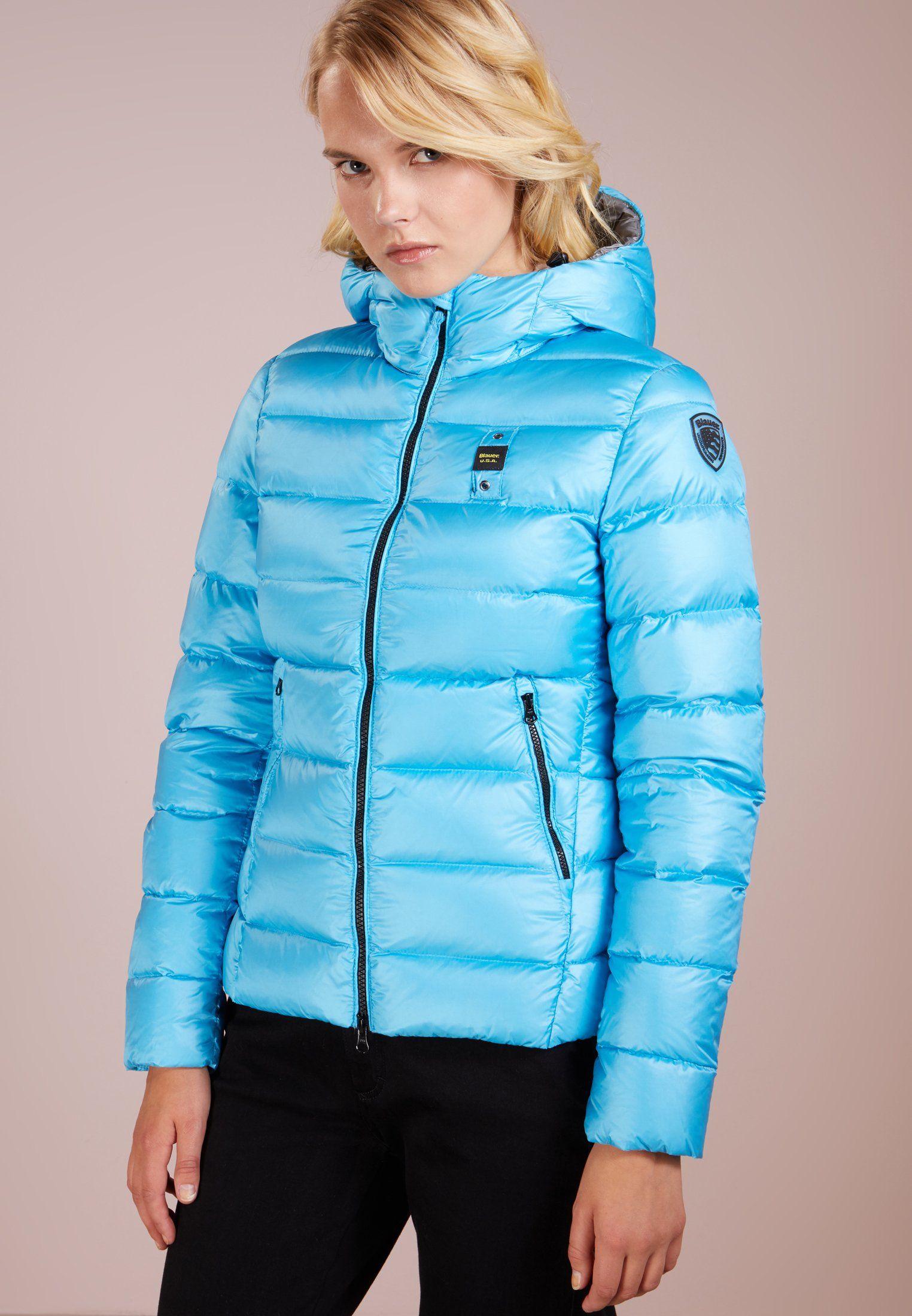 blauer jacken damen zalando