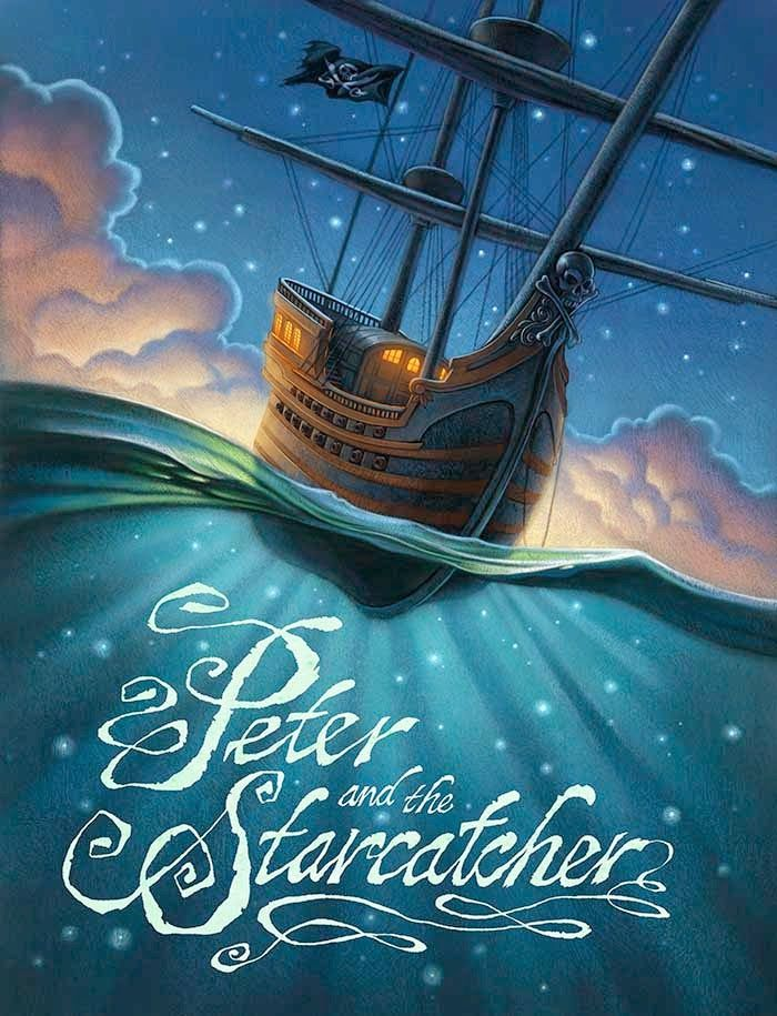 Peter and the Starcatcher poster art and lettering by Greg