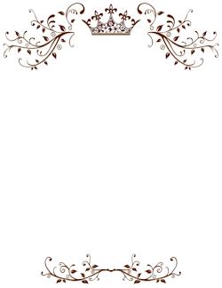 royal border pola bunga undangan