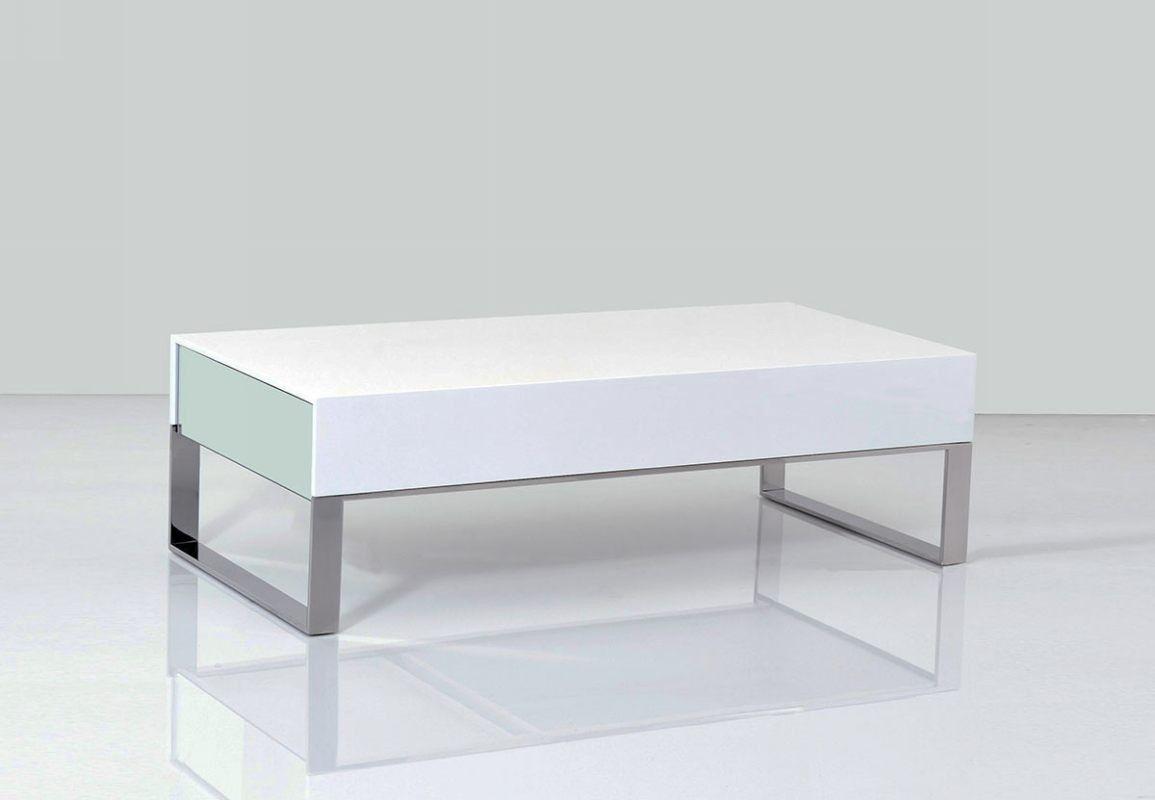 Terbium Modern White Glossy Coffee Table W47 X D24 X H14 Living
