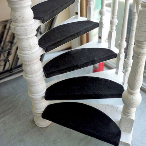 Best Details About Black Carpet Stair Tread Mats Step Staircase 400 x 300