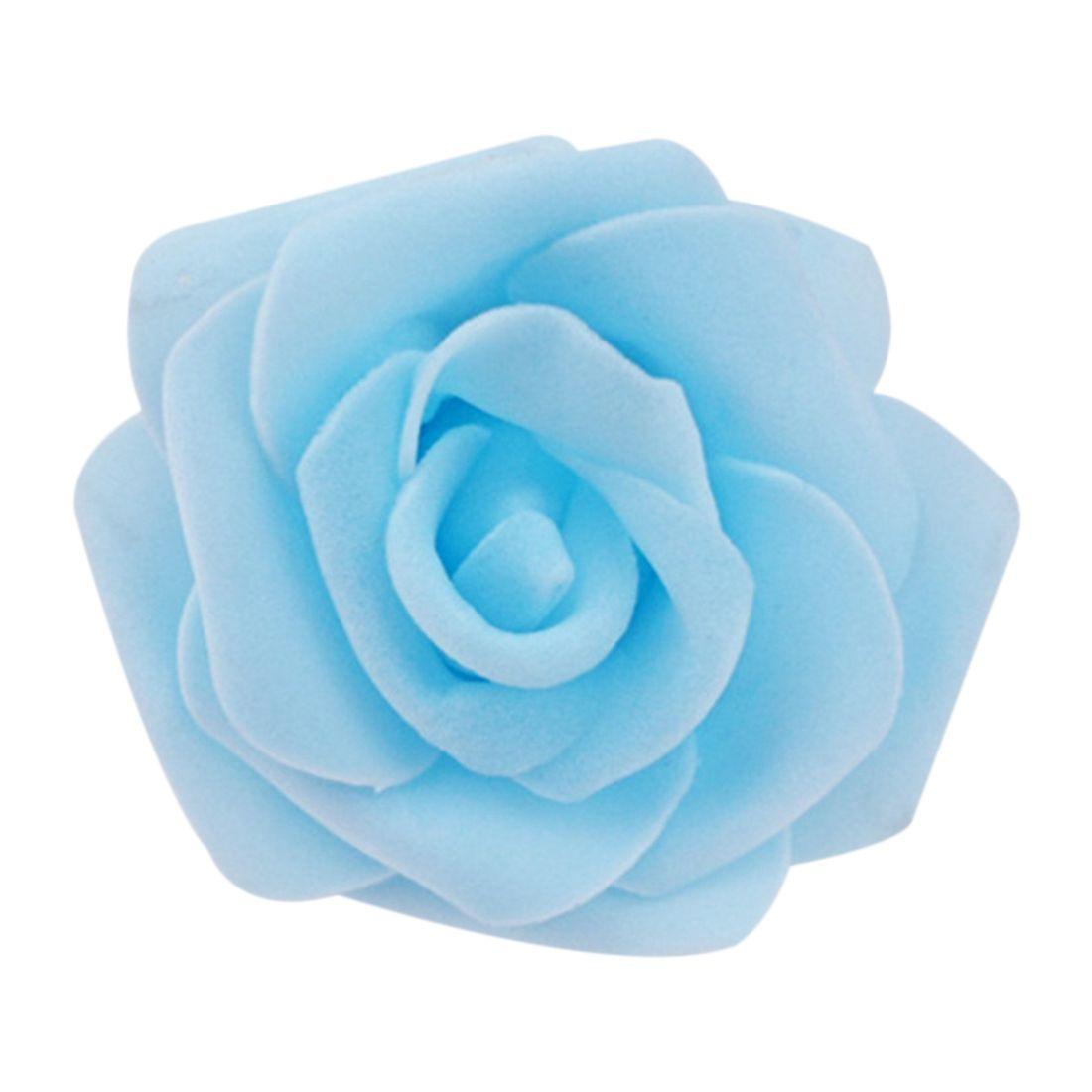 Light Blue Flowers For Weddings: ALIM High Quality 100pcs / Bag 6cm Foam Rose Heads