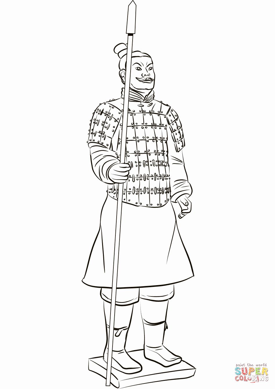 Military Coloring Sheets Printables Best Of Terracotta Warrior
