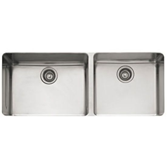 Franke Kbx12043 Kubus Undermount Double Bowl Kitchen Sink In Stainless Steel Double Bowl Kitchen Sink Undermount Kitchen Sinks Stainless Steel Kitchen Sink