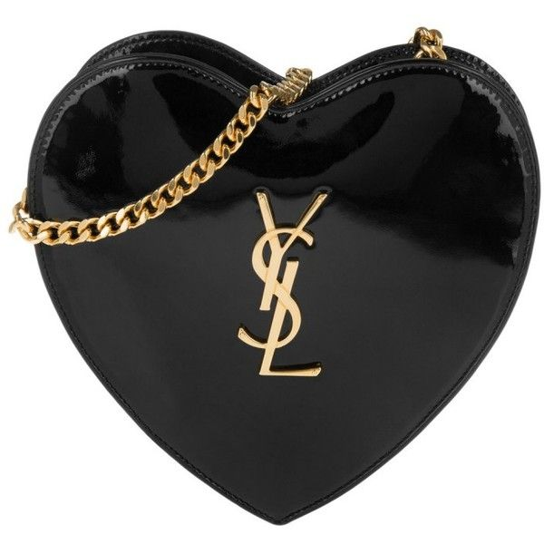 f9535eb3c4295 Saint Laurent Shoulder Bag - YSL Heart Shaped Patent Leather Love...  ( 1