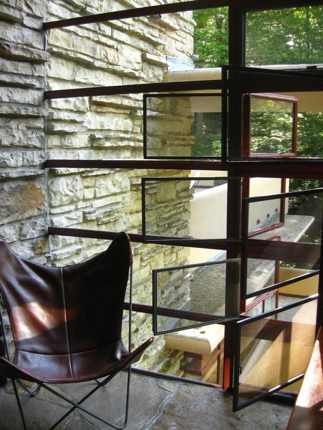 Fallingwater casa de la cascada de frank lloyd wright for Frank lloyd wright casa della prateria