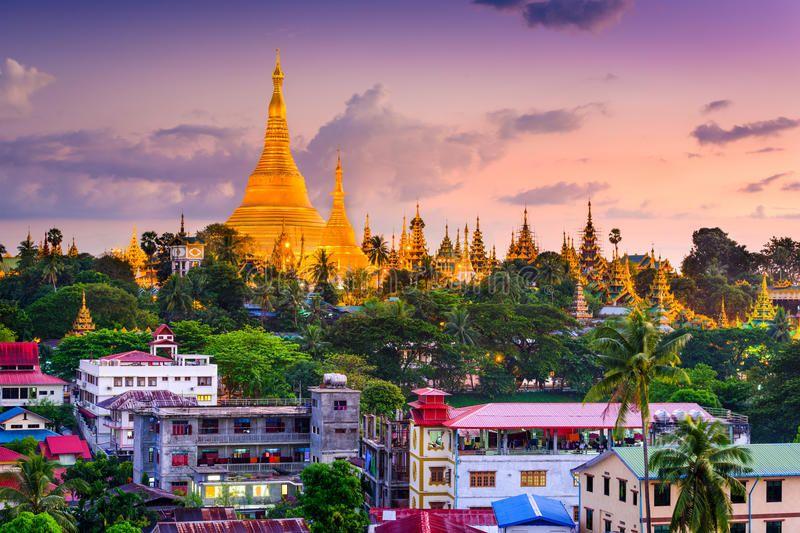 Yangon Skyline Yangon Myanmar Skyline At Shwedagon Pagoda Ad Myanmar Skyline Yangon Pagoda Shwedagon Ad Yangon American Travel Shwedagon Pagoda