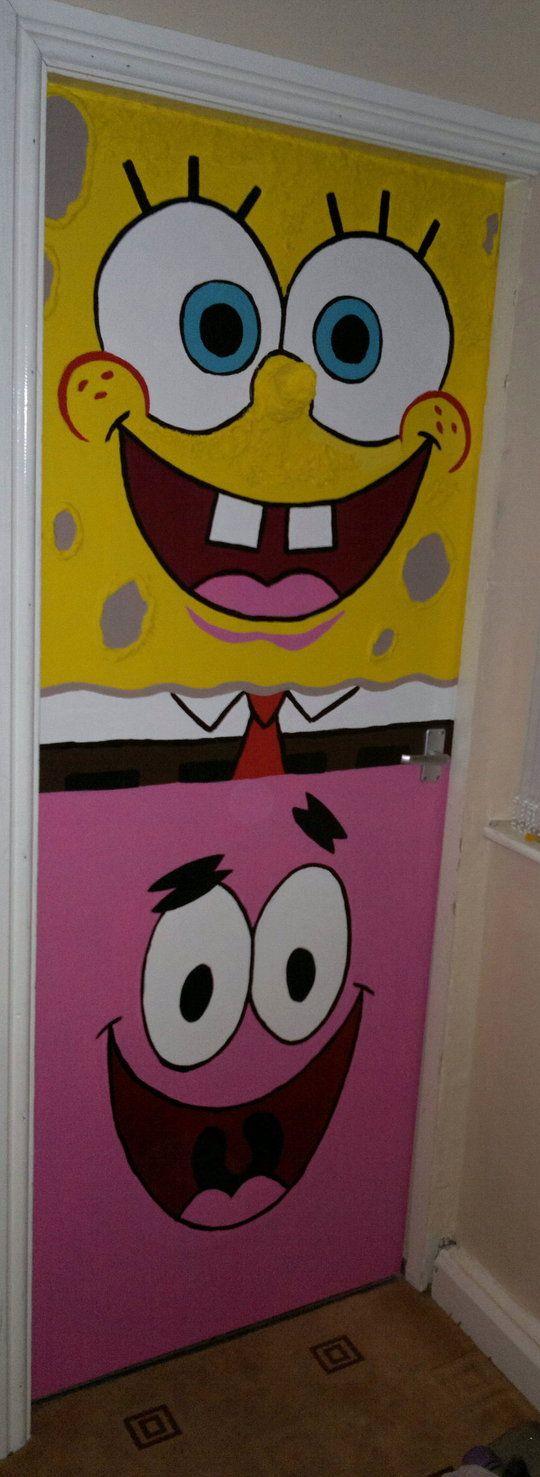 Spongebob Bedroom Decorations Spongebob And Patrick Bedroom Door By Smogmonkey Decorate Your