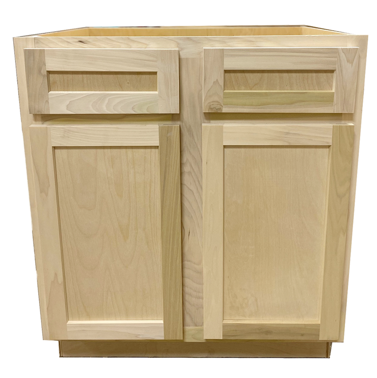 Kitchen Base Cabinet | Unfinished Poplar | Shaker Style ...