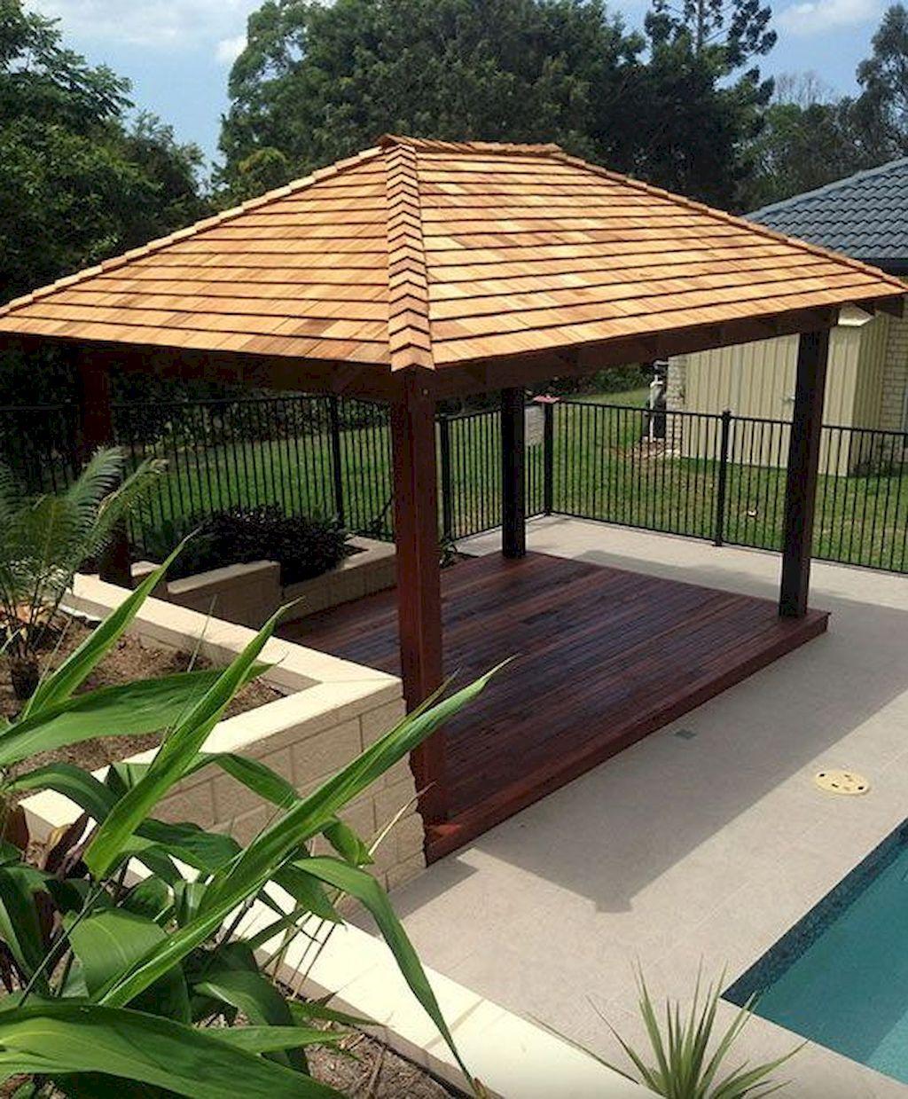 70 Diy Backyard Gazebo Design And Decorating Ideas En 2020 Pergola Couverte Pergola Bioclimatique Auvent De Patio