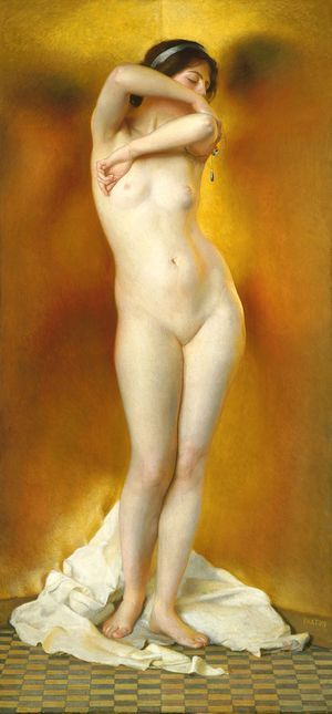 GLOW OF GOLD, GLEAM OF PEARL Artist Paxton, William McGregor