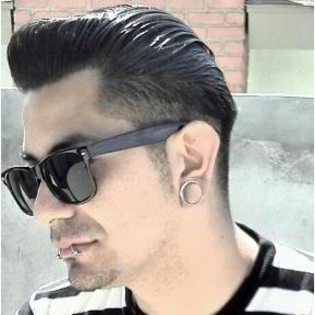 Rockabilly Guy Cut Fade The Back And Sides Up Slightly Use Clippers To Complete Look Then Pomade Style It Come In For Another 3 4