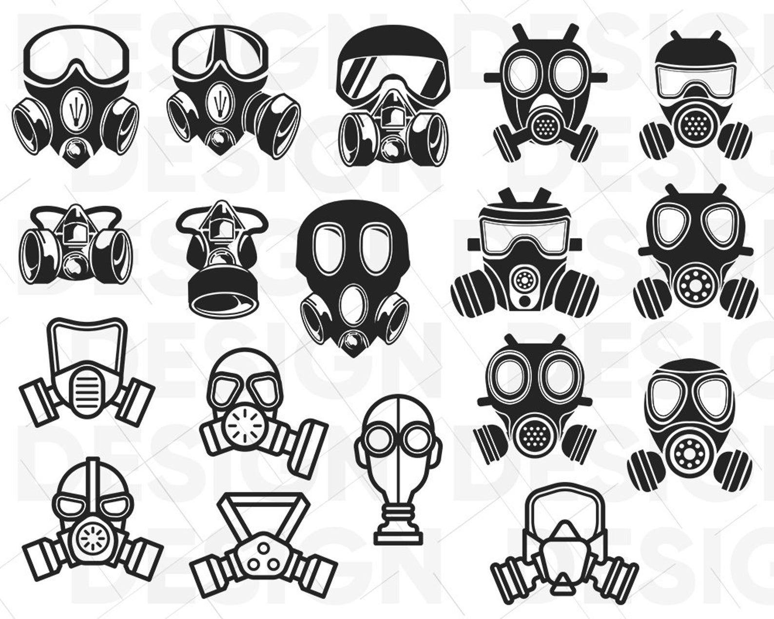Respirator Mask Svg Mask Svg Steampunk Svg Danger Svg Etsy Gas Mask Drawing Gas Mask Art Gas Mask