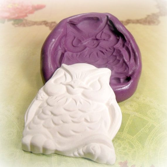 Large Owl flexible silicone mold /mould on Etsy, £9.81