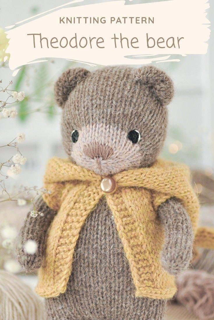 how to knit a teddy bear step by step