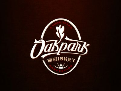 Whiskey logo emblem with custom typography