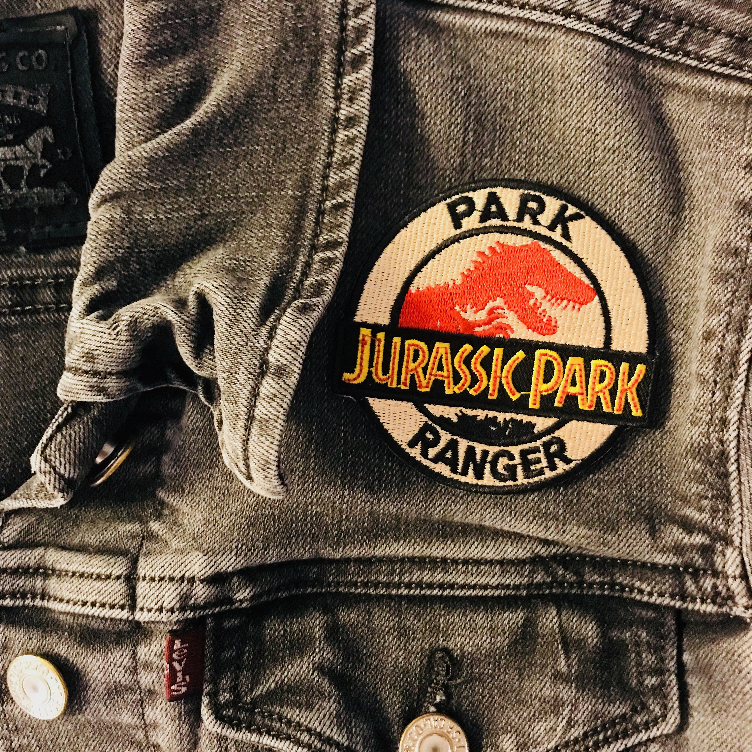 Park Ranger Patch Accessory Embroidery Jurassic Park Jurassic World