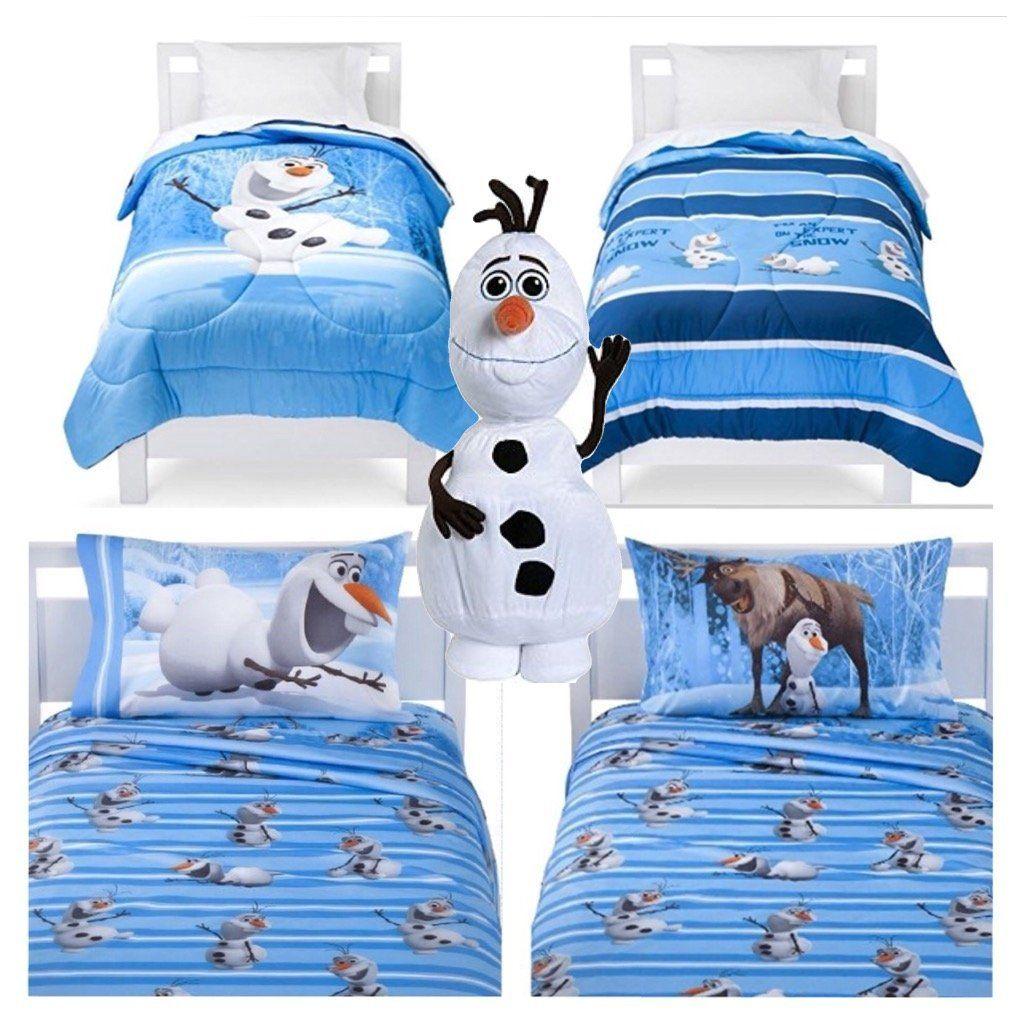 Disney Frozen Olaf 5 Piece Bed In A Bag Reversible Comforter 3