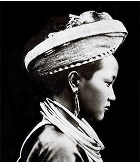 Portrait of a Hmong girl in Laos, 1920s. Courtesy Noah Vang, St. Paul Photo: Hmong Timeline   Minnesota Historical Society