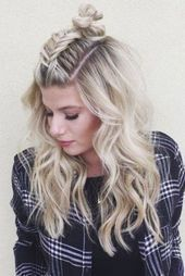 Pinterest Most Pinned Summer Hair  loving this middle braid top knot style per #... -  Pinterest Most Pinned Summer Hair  loving this middle braid top knot style per #braidedtopknots Pin - #braid #braidedhairstyle #hair #hairstyleshighlights #knot #loving #middle #pinned #pinterest #style #summer #summerhairstyles #Top #braidedtopknots