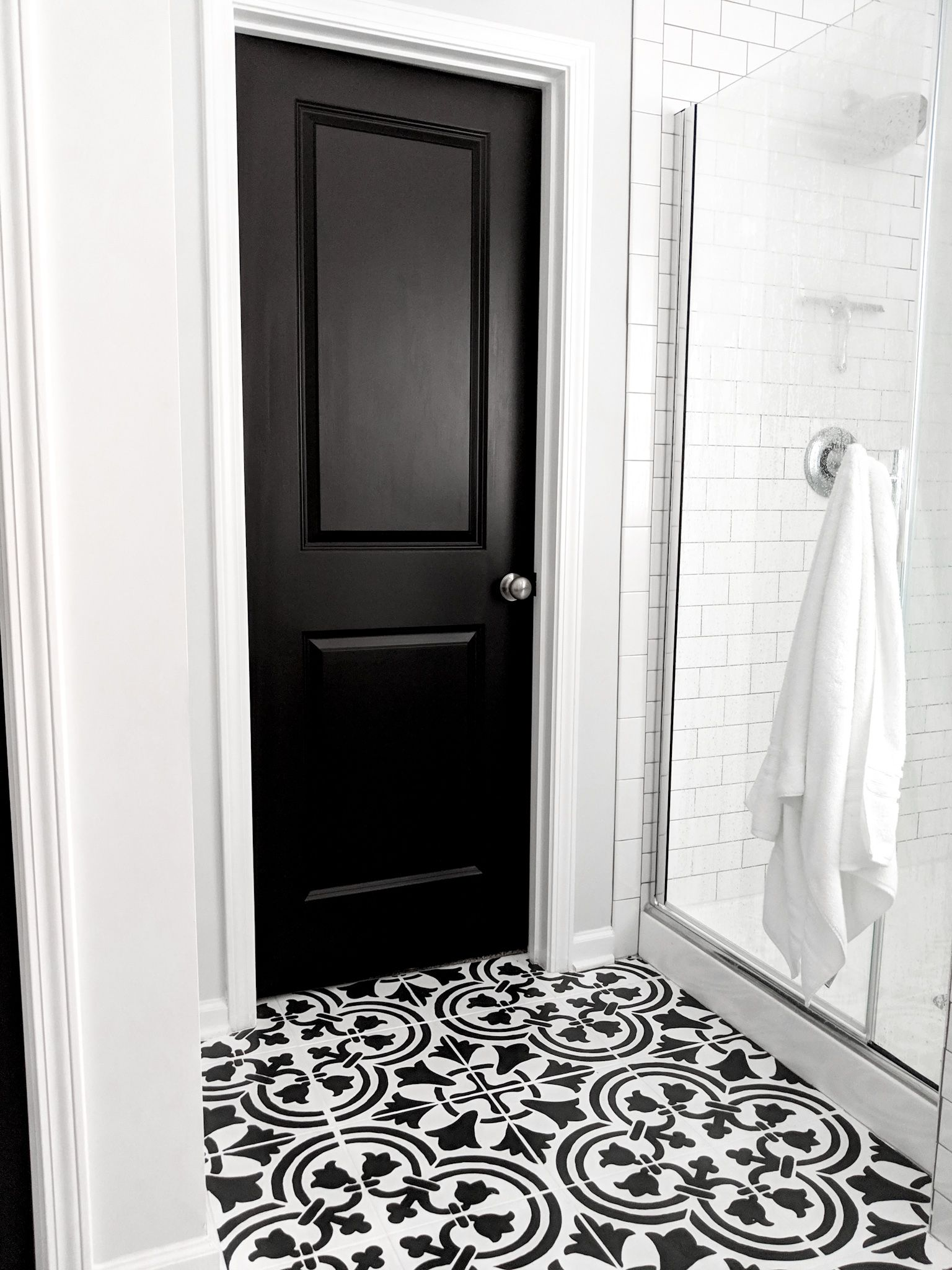 How To Paint Doors Like A Professional Without Taking Them Off The Hinges Painted Interior Doors Black Interior Doors Black Doors