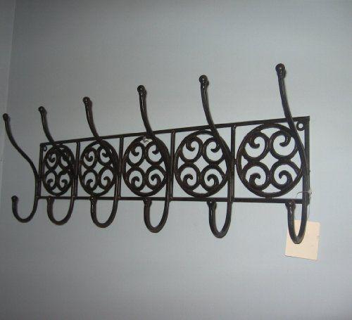 Amazon Com Tuscan Wrought Iron Metal Wall Hook Coat Rack Towel